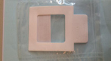 ChraSep Sterile White PTFE sampling template with press 'hold' tab 4cm x 8cm, 10/pk